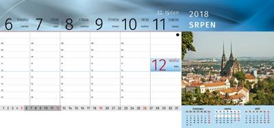 Stolní kalendář Brno 2018