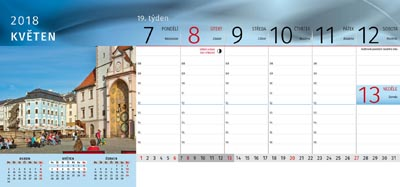 Tischkalender Olomouc 2018